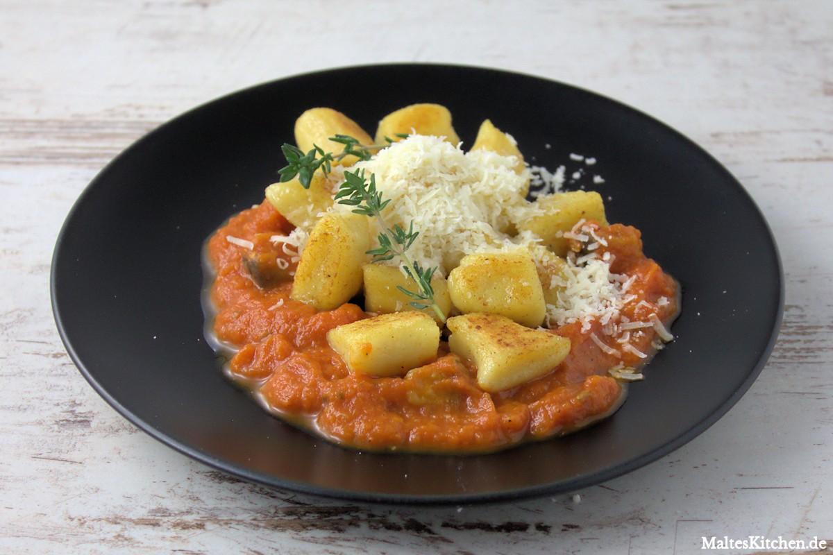 Rezept für Gnocchis mit Auberginen-Tomatensauce nach Christian Rach