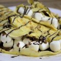 Rezept für hauchdünne Crepes mit Nutella und Marshmallows