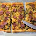 Rezept Blätterteig-Pizza mit Wirsing und Chorizo