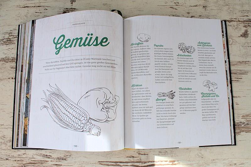 Im Grillbuch findest du Informationen über verschiedenste Gemüsesorten, die sich zum grillen eignen.