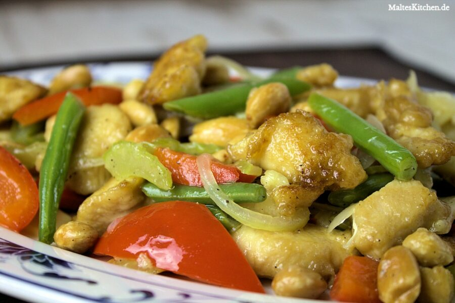 Rezept Hühnerfleisch mit Mandeln