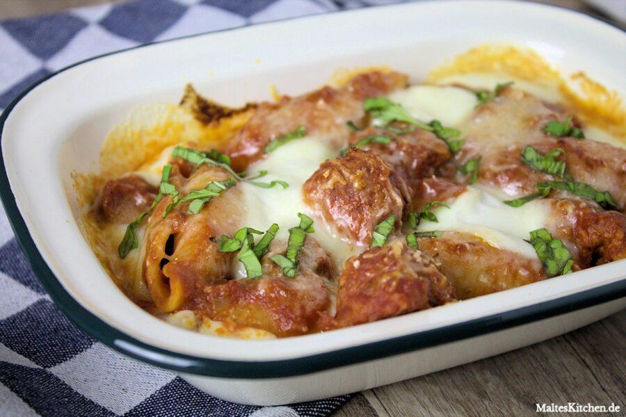 Rezept für Conchiglione mit Salsiccia und Tomatensauce