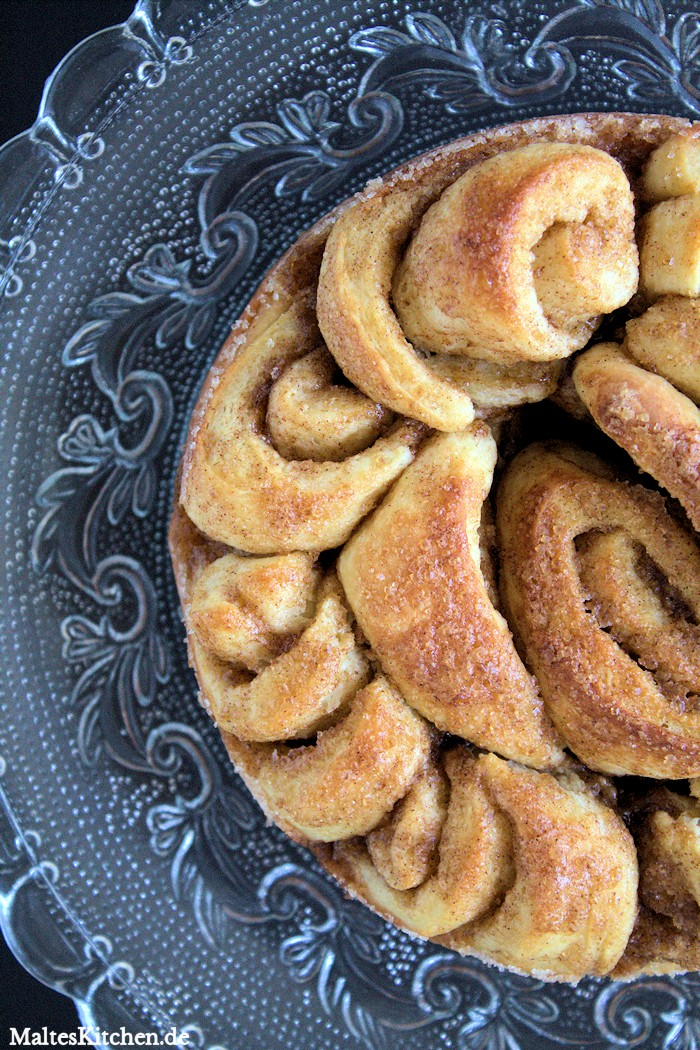 Super leckere Zimtschnecken gebacken in einer Springform