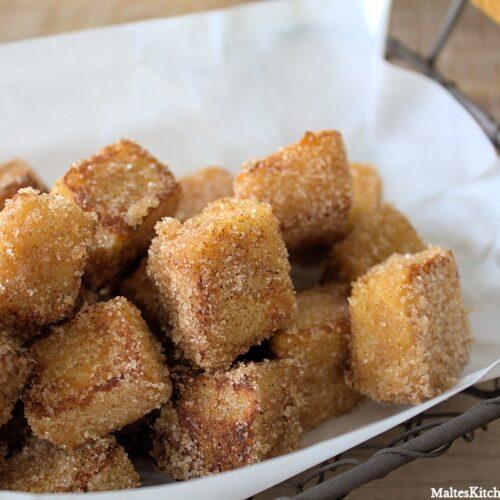 Rezept für French Toast Würfel mit Zimt und Zucker