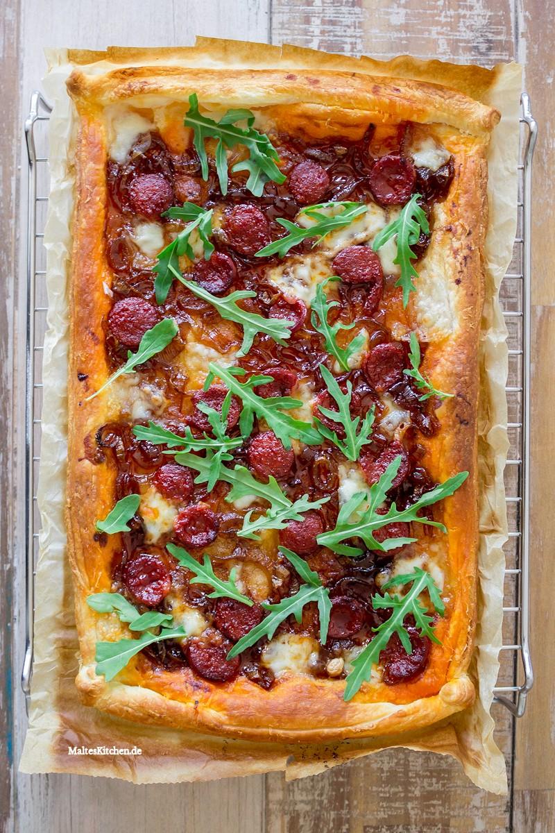 Blätterteig mit Chorizo & Mozzarella