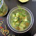 Gurkensalat mit Sweet-Chilli-Sauce