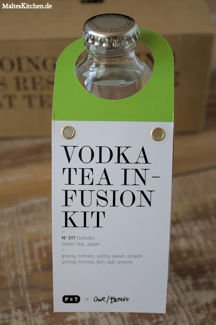 Vodka Tea Infusion Kit mit grünem Tee