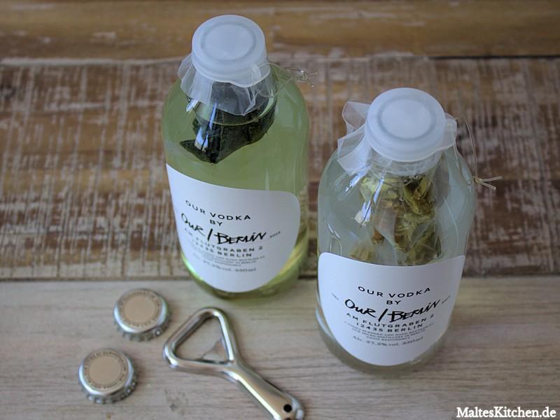 Vodka Tea Infusions Set mit grünem und weißem Tee
