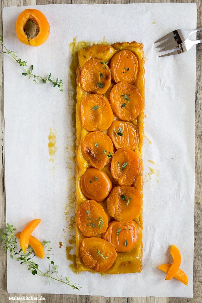 Leckere Aprikosen-Tarte mit Mürbeteig