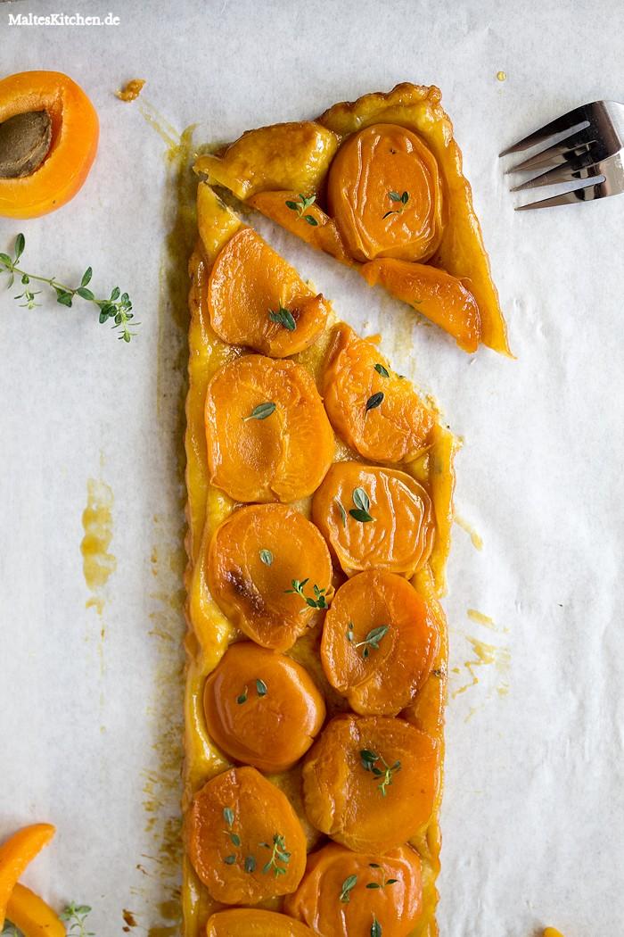 Saftige Aprikosen und ein knuspriger Mürbeteig