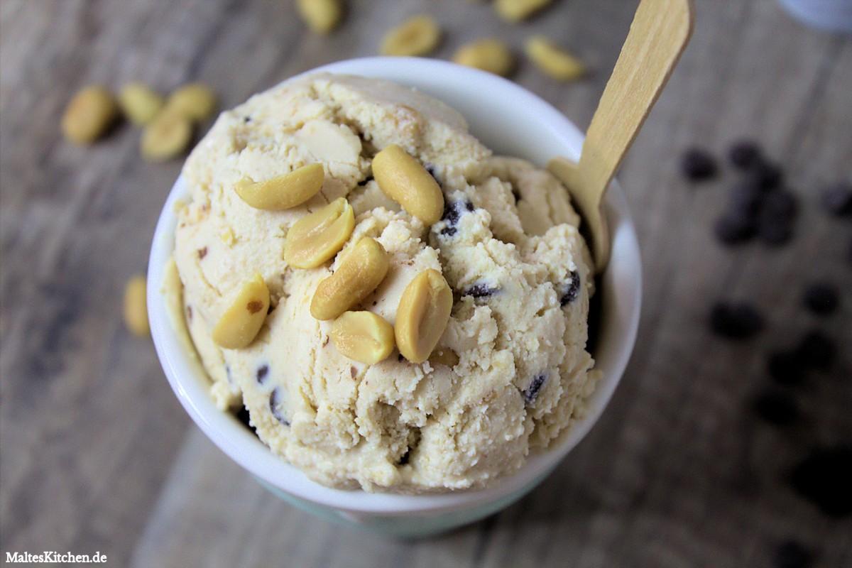 Rezept für ein Peanutbutter-Chocolate-Chip Eis