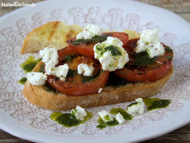 Süß, knusprig, cremig mit tollem Tomaten und Basilikum Geschmack