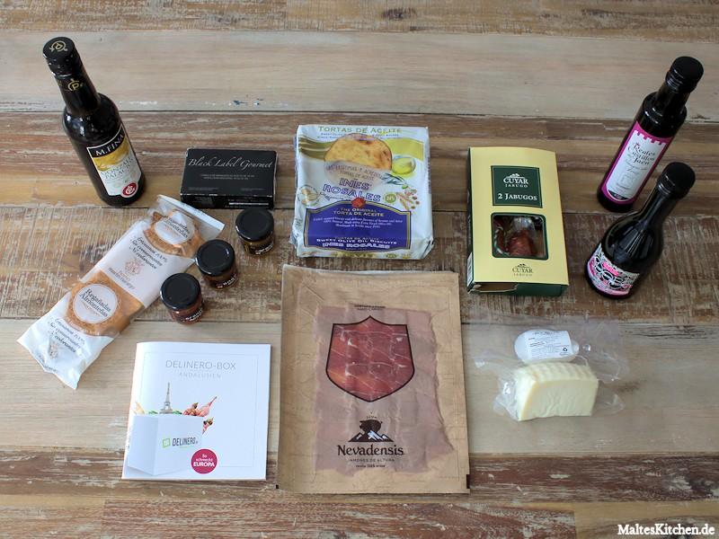 Der Inhalt der Delinero-Box Andalusien