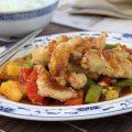 Rezept für frittiertes Scheinefleisch mit süß-sauer Sauce
