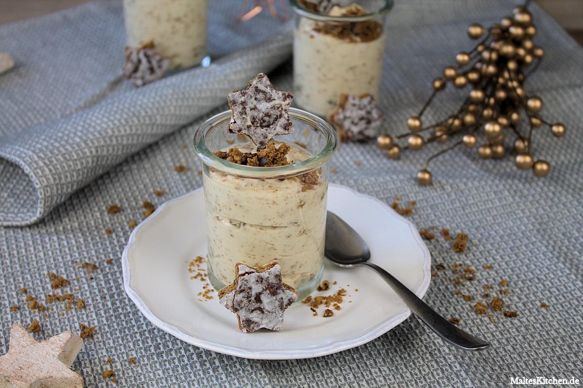 Rezept für eine weiße Lebkuchen Mousse