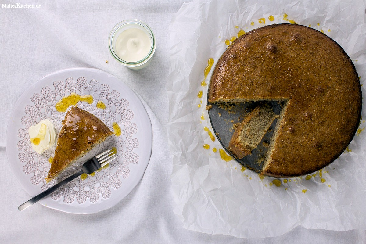 Rezept für einen Mandelkuchen mit Orange nach Donna Hay