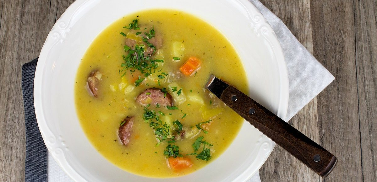 Rezept für einen Kartoffeleintopf mit Cabanossi