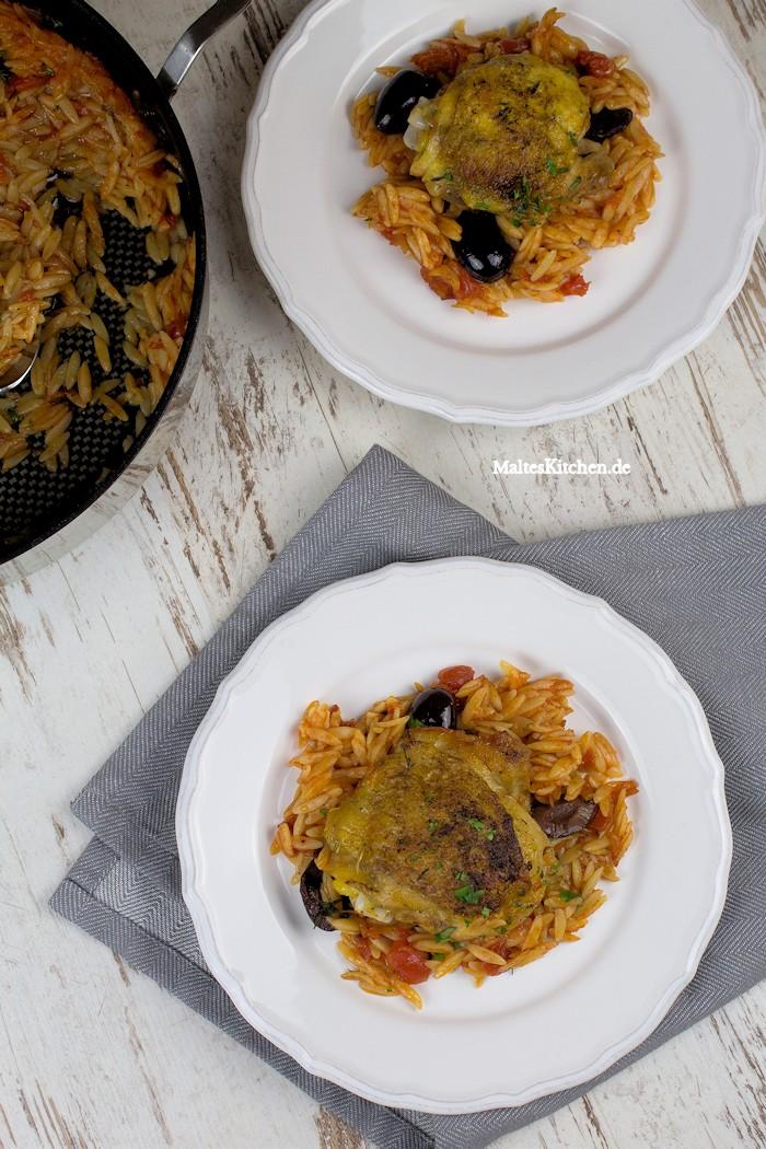 Ein tolles und schnelles Essen, Kritharaki mit Hähnchen