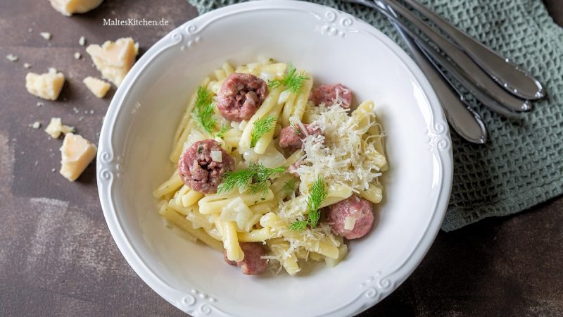 Rezept Pasta mit Sasliccia und Fenchel
