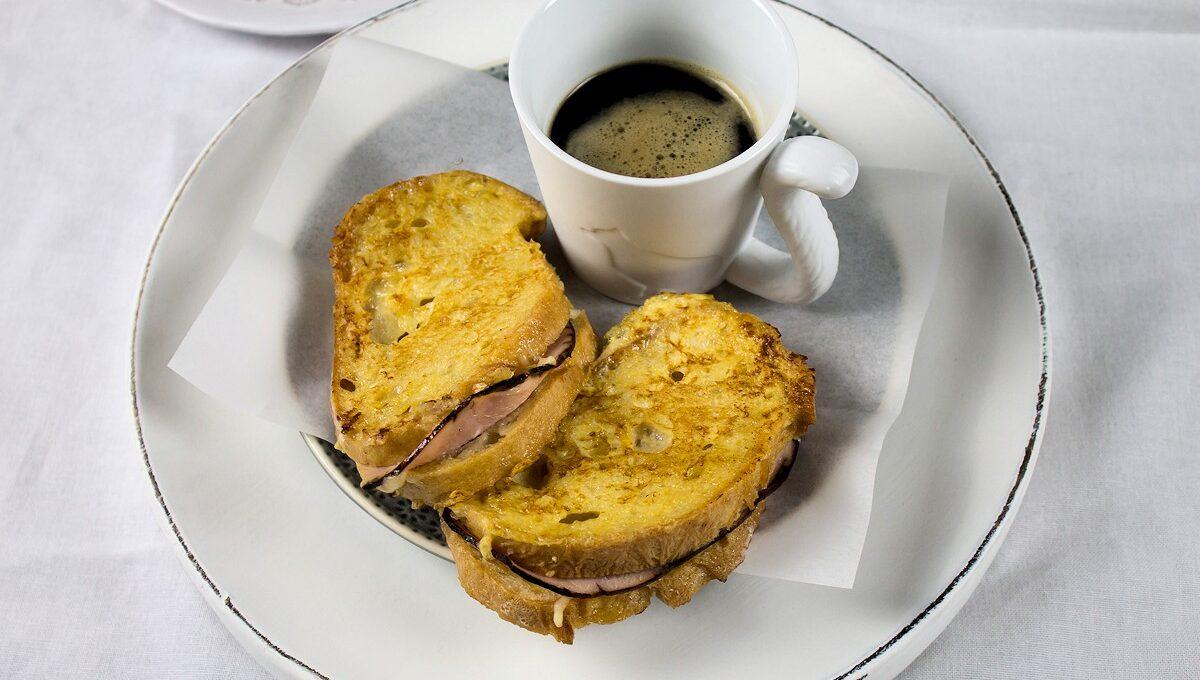 French Toast mit Schinken und Käse