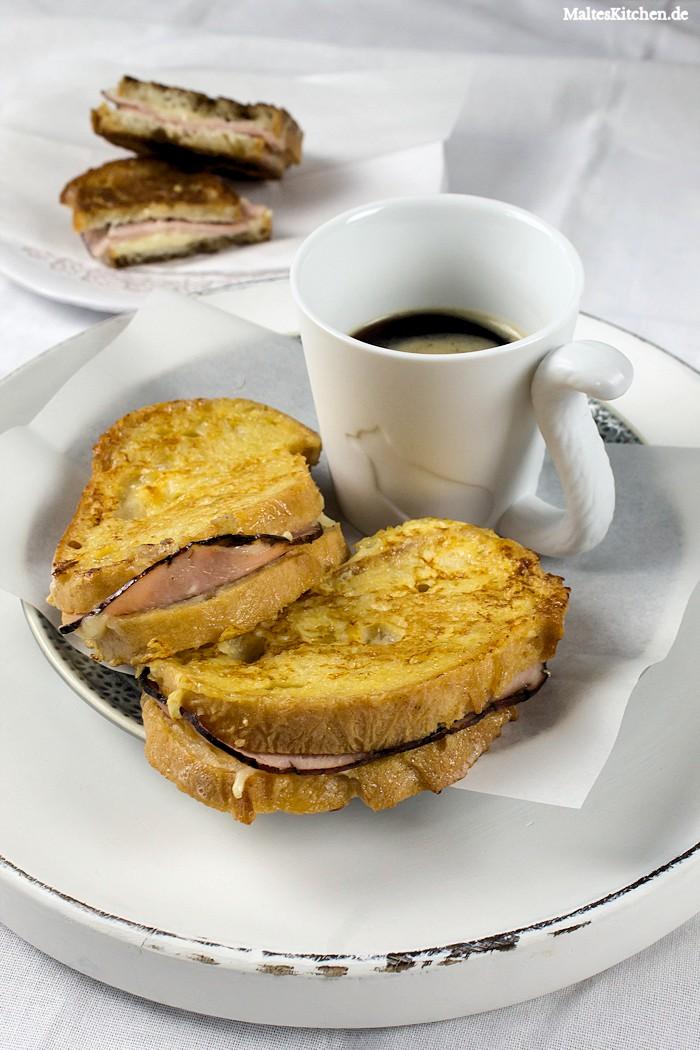 Herzhafte French Tost mit Schinken und Käse