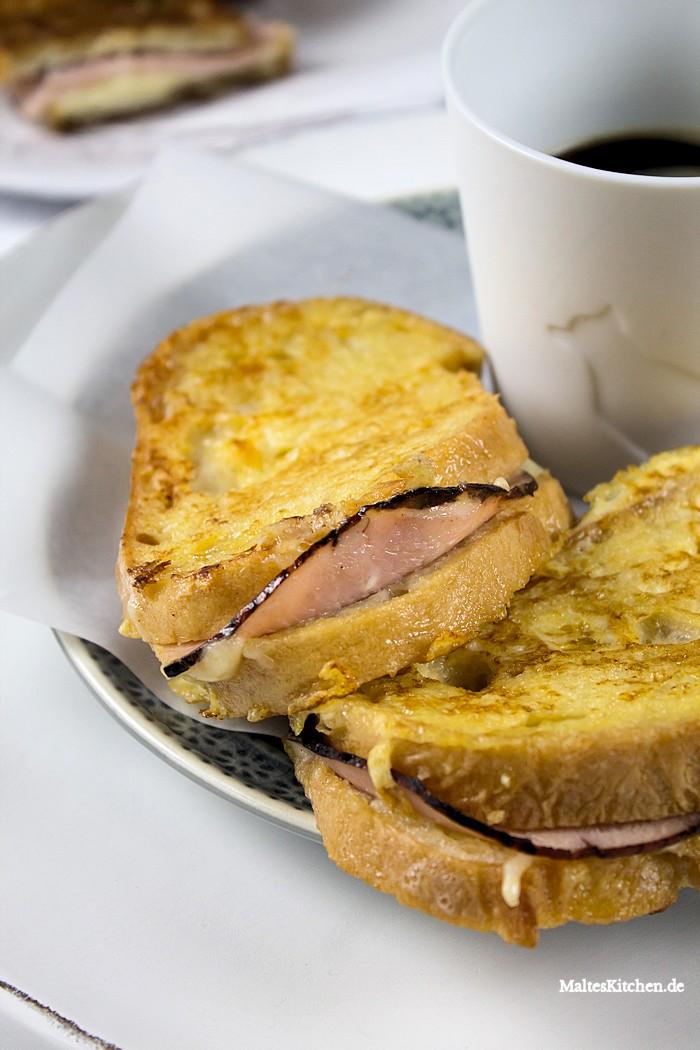 French Toast mit Kochschinken und Käse