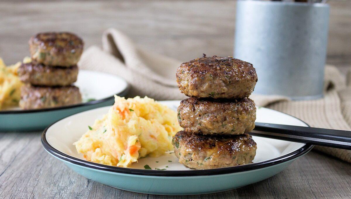 Rezept Frikadellen mit Kartoffel-Möhren-Stampf