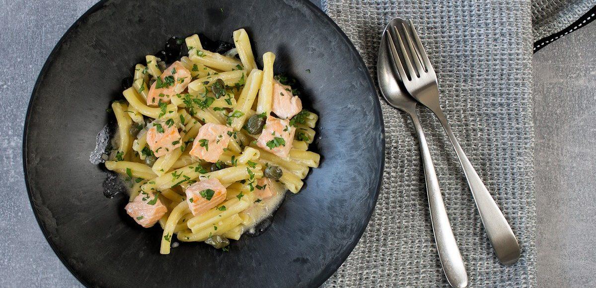 Rezept Casarecce mit Lachs und Kapern