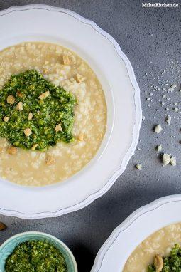 Leckeres Risotto mit Pesto