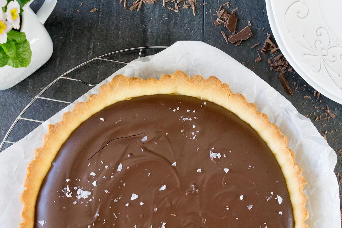 Rezept fpr eine Schokoladentarte mit Creme Fraiche