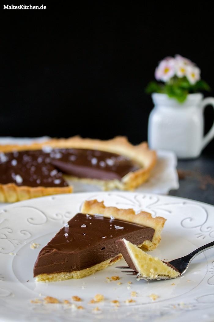 Knuspriger Mürbeteig und cremige Schokolade