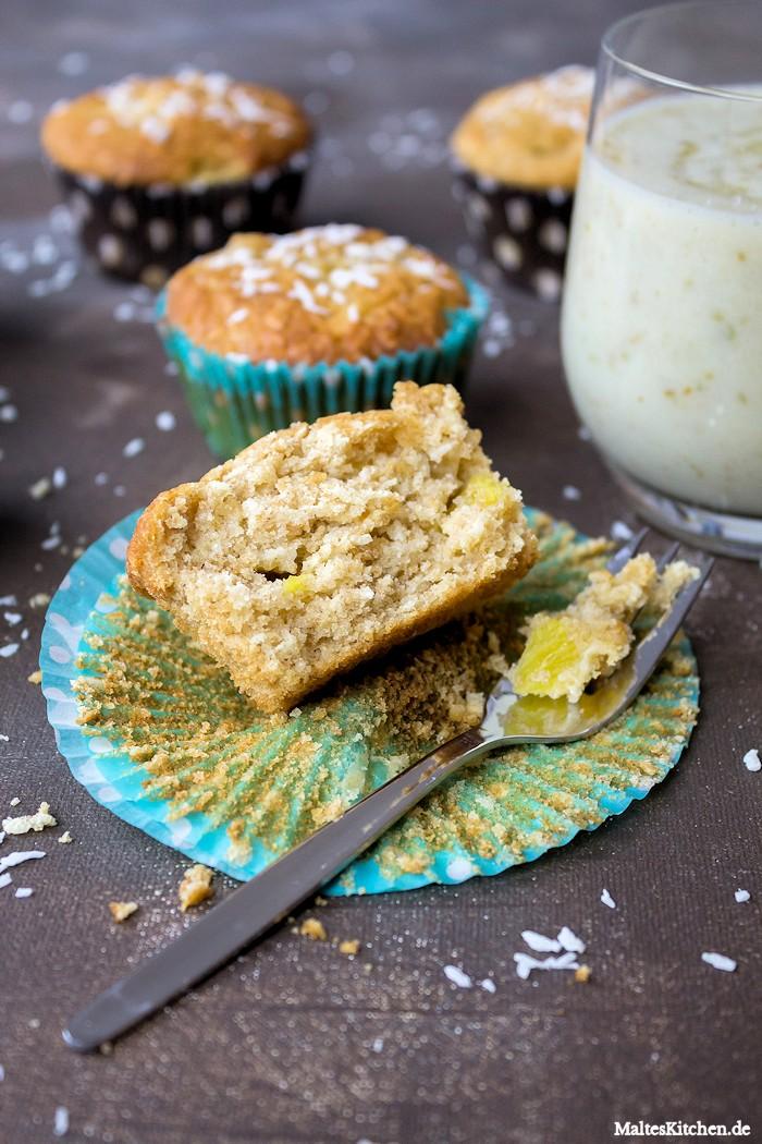 Leckere Ananas-Muffins zum Frühstück
