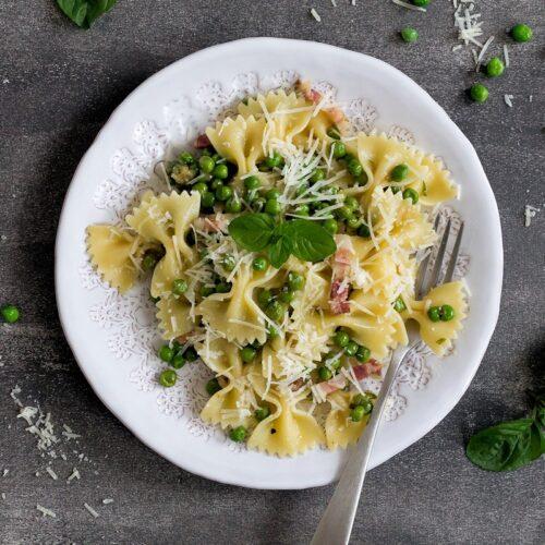 Rezept für Pancetta mit Erbsen & Minze