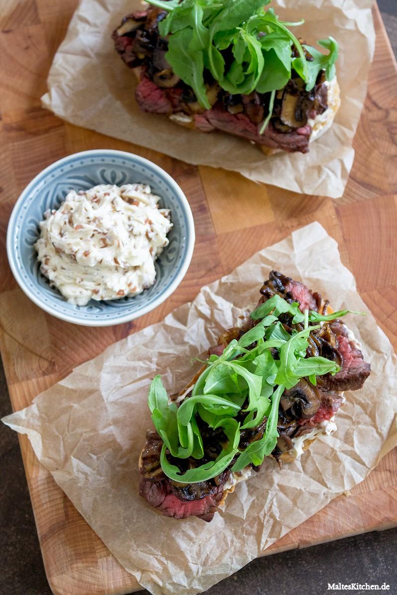 Superleckeres Steak-Sandwich