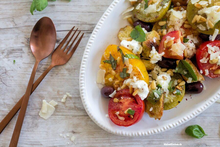 Rezept für einen Tomaten-Brot-Salat