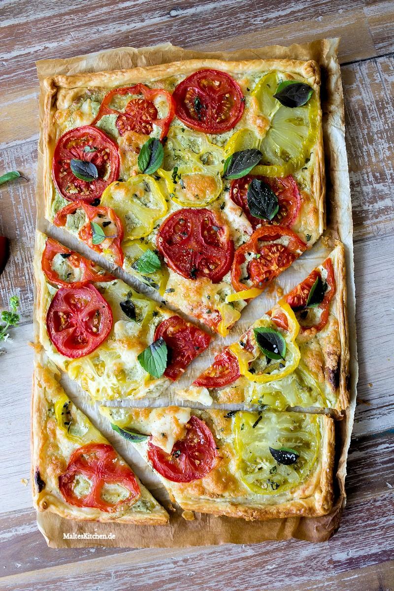 Lekere sommerlihe Tarte mit Tomaten