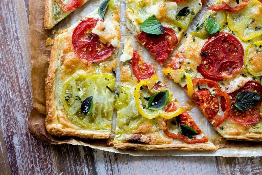 Rezept Tomatentarte mit Ricotta-Basilikum-Creme