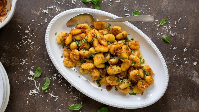 Rezept für Gnocchi mit Cashew Pesto