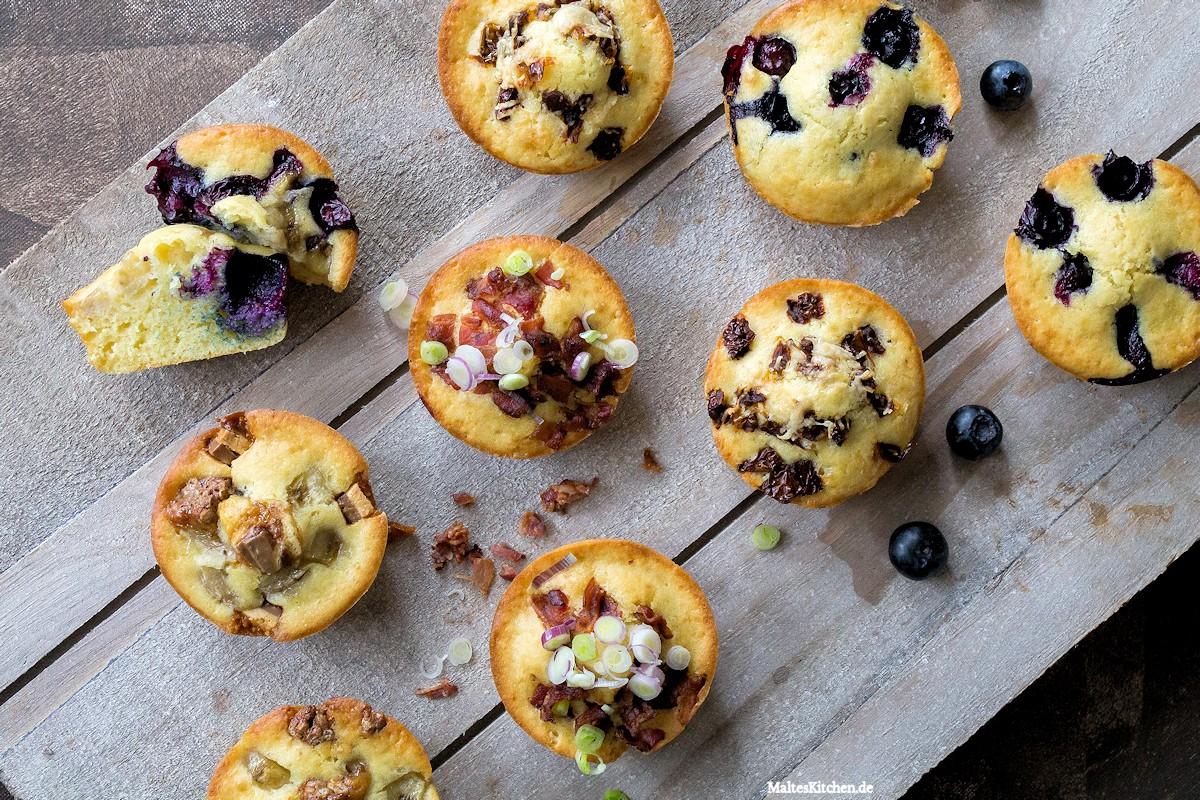 Rezept für süße und herzhafte Pancake-Muffins