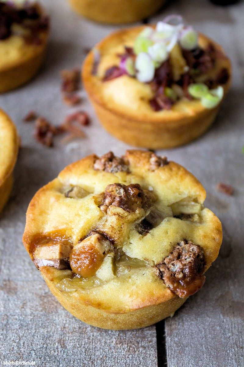 Pancake Muffins mit Brodericks Peanutt Riegel