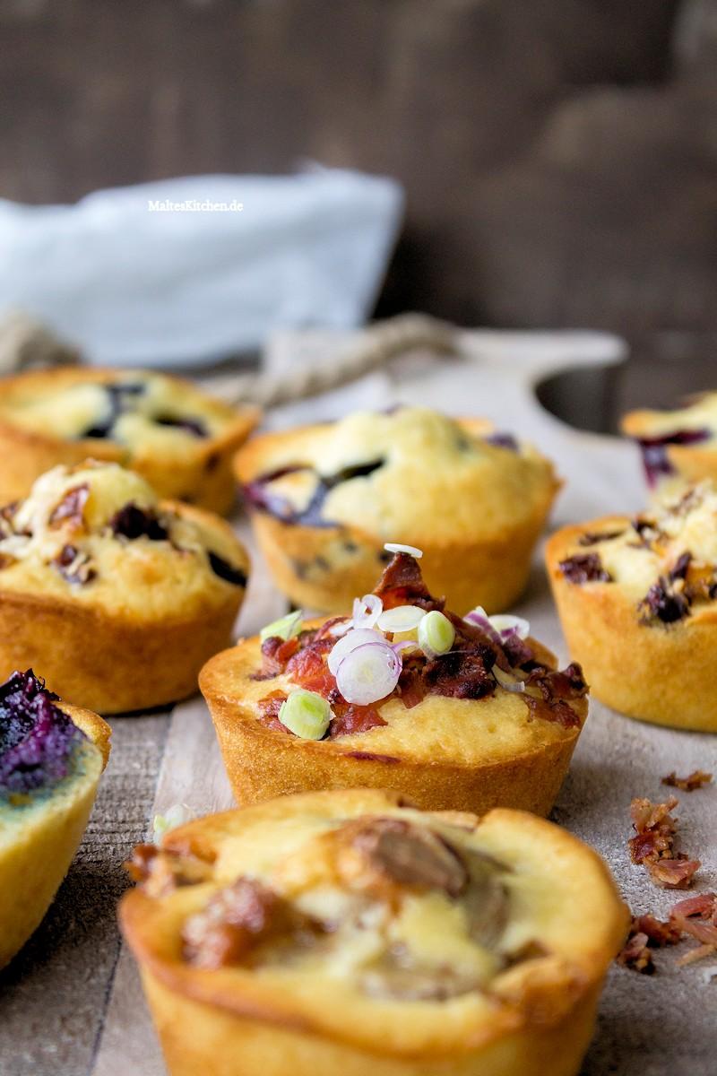 Pancake-Muffins mit Speck