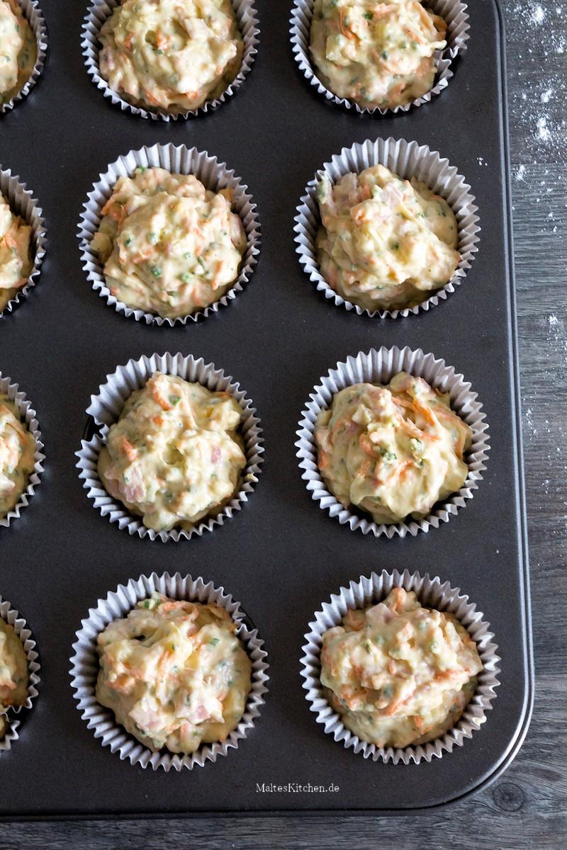 Die Muffins werden 25 Minuten im Ofen gebacken
