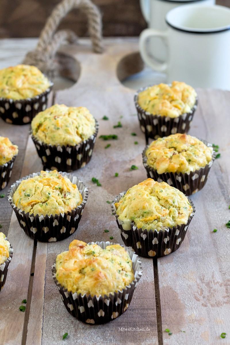 Herzhafte Muffins zum Frühstück
