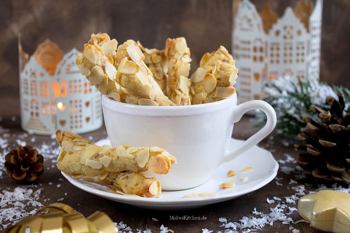 Rezept für Mandel-Stängli Weihnachtsplätzchen