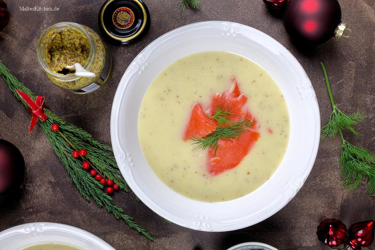 Rezept für eine Apfel-Sellerie-Senf-Suppe