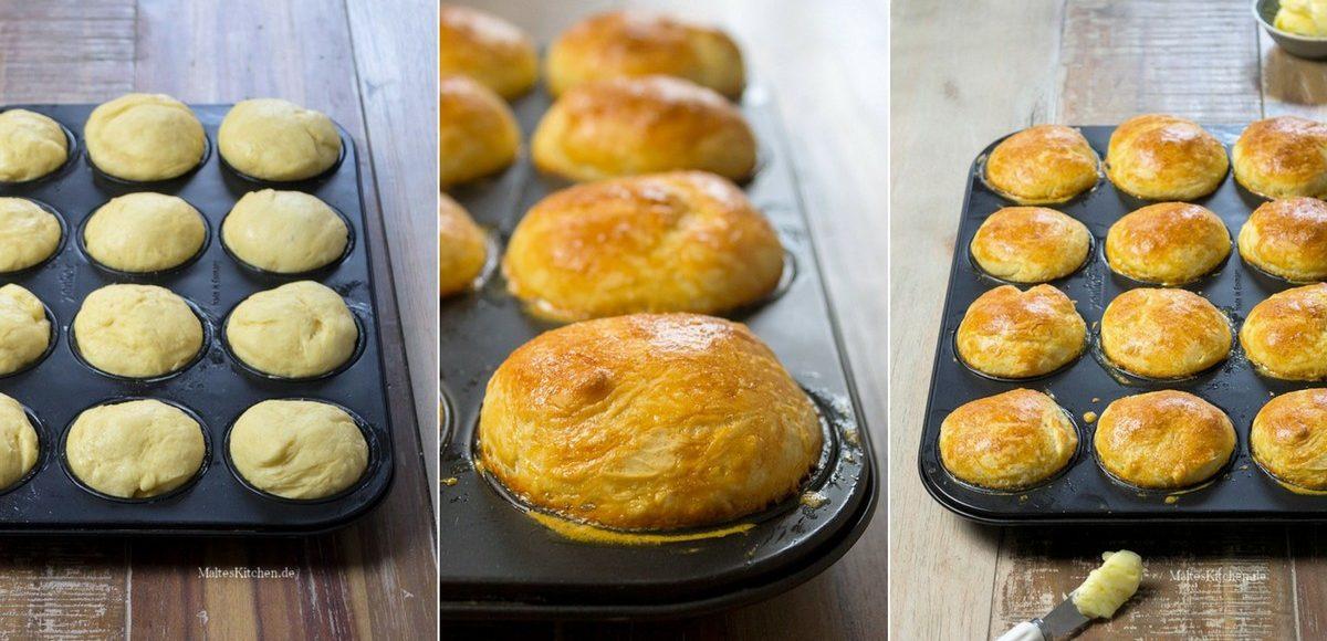 Süße Brioche in der Muffin-Form