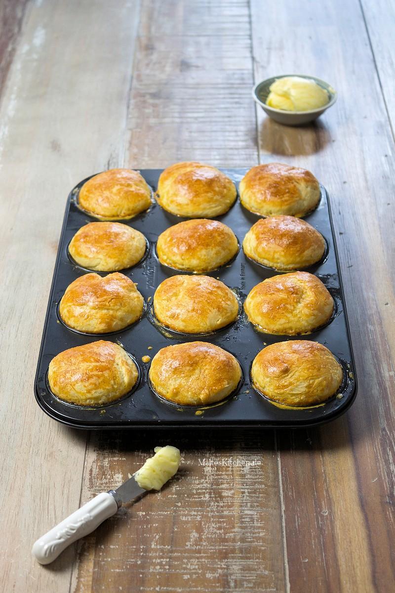 Fluffige Brioche aus der Muffinform