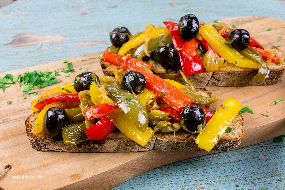 Rezept für ein süß-saures Paprikagemüse ala Peperonata