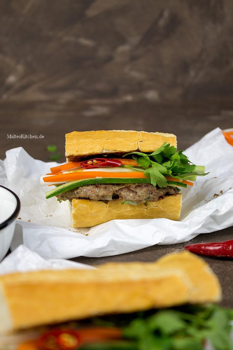 Banh Mi mit Hackfleisch