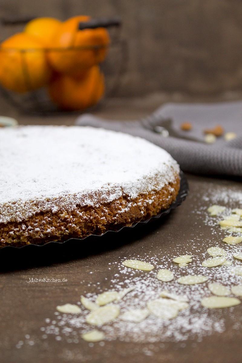 Leckerer mallorquinischer Mandelkuchen